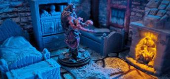 D&D Custom Miniature Furniture Room / Handmade Miniatures