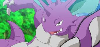 Nidoking Mega Punch from Pokémon Anime