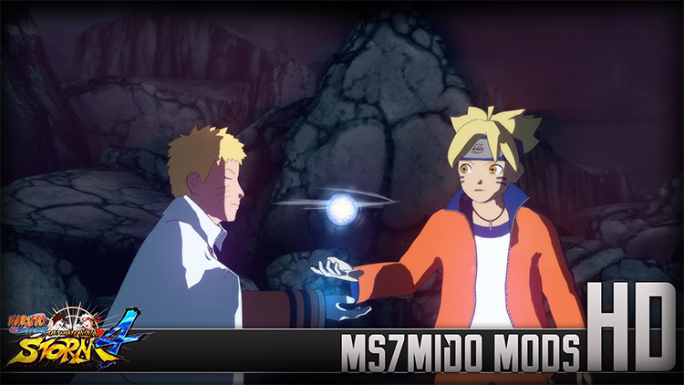 Boruto Awakens Sage Mode and Sage of the Six Paths Mode NSUNS 4 mod