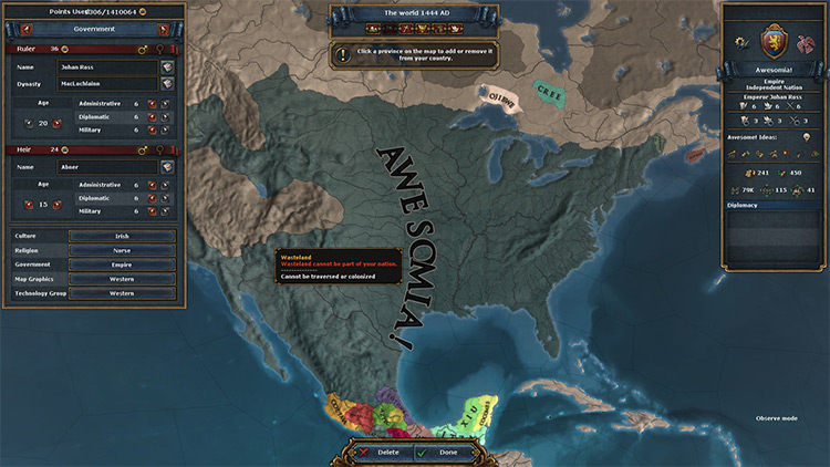 Better Nation Designer And Unlimited Points Europa Universalis IV mod