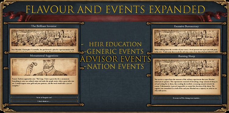 Flavor & Events Expanded mod for Europa Universalis IV