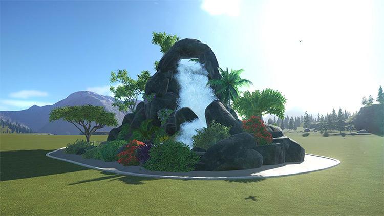 Natural Cascade Planet Coaster mod screenshot