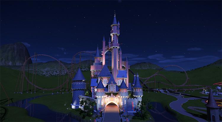 Disneyland Castle Planet Coaster mod screenshot
