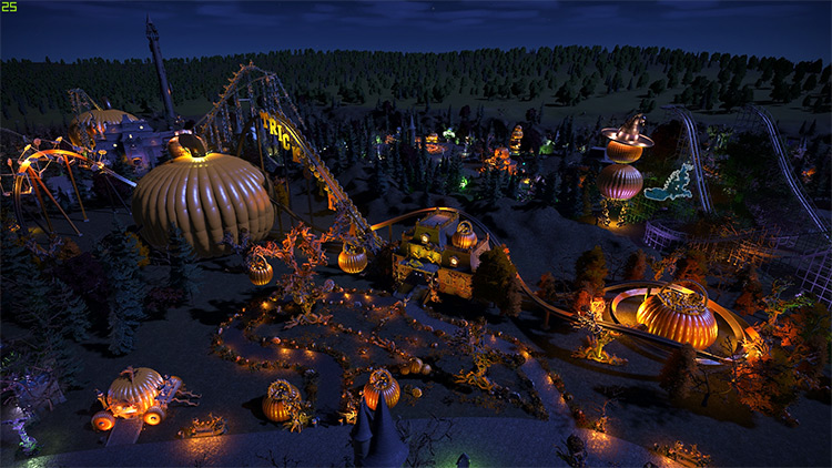 Spooky Town mod for Planet Coaster