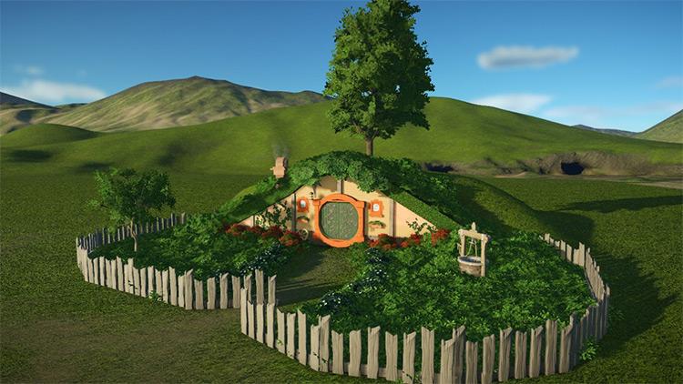 Hobbit Hole Planet Coaster mod screenshot