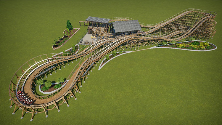 The Rumbler mod for Planet Coaster