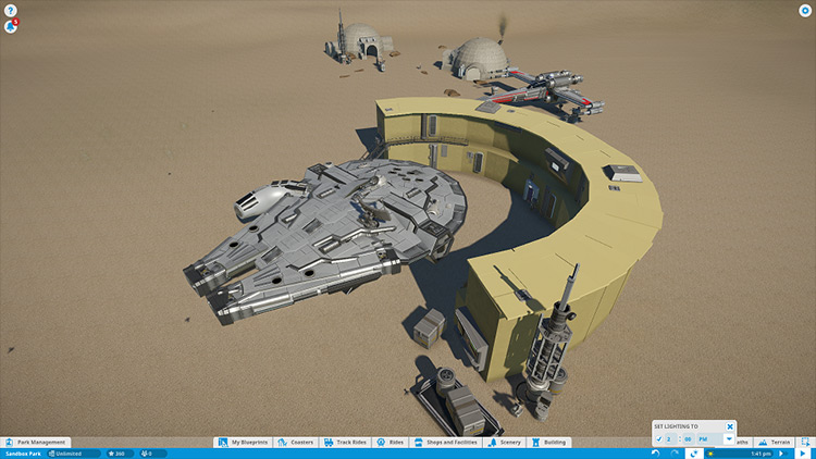 Star Wars Millennium Falcon Planet Coaster mod