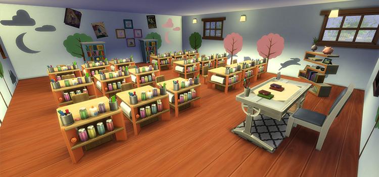 Elementary School Lot Mod for TS4