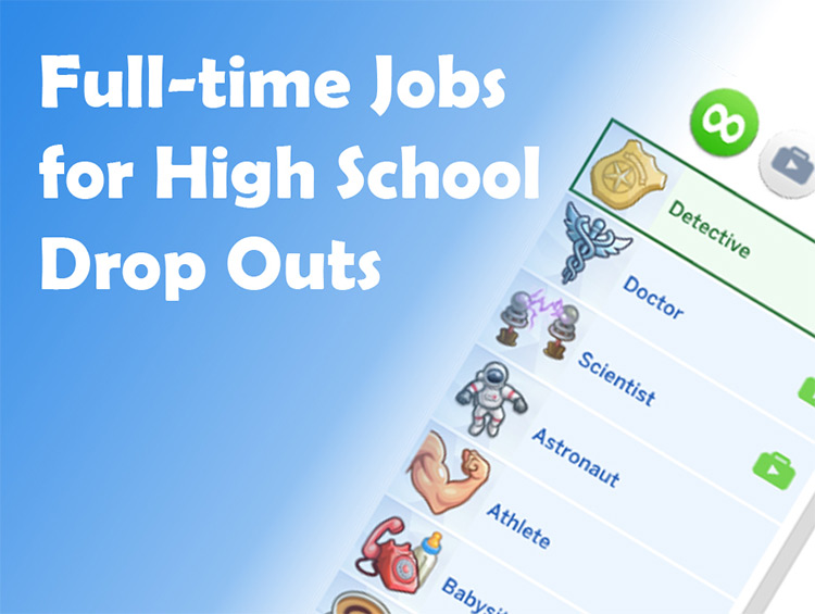 Drop Out of High School and Get a Real Job Mod by Telford Sims 4