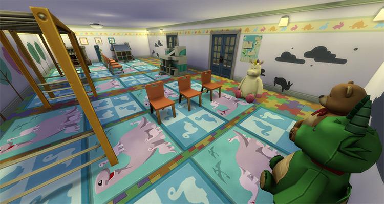Elementary School by sim4fun mod for Sims 4