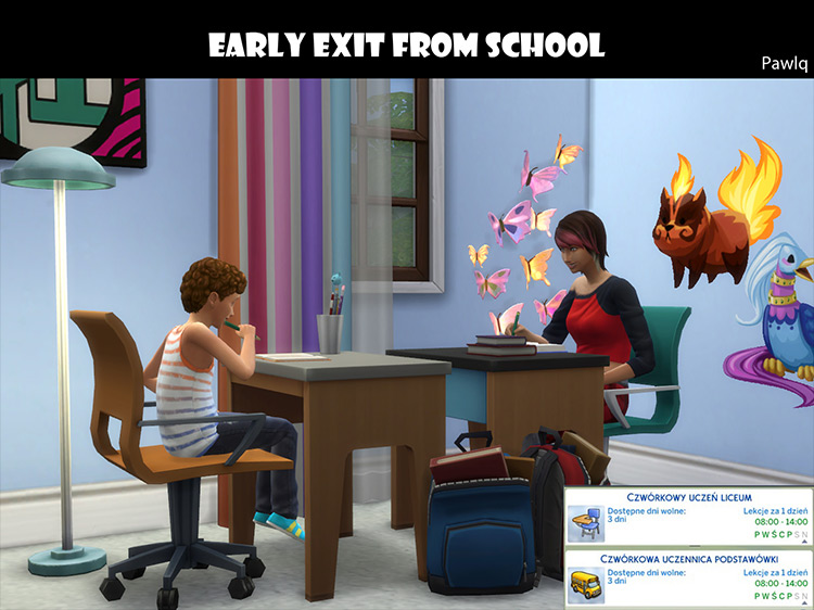 Early Exit From School Mod by Diffevair Sims 4
