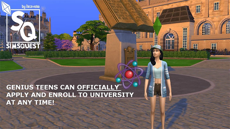 Genius Teen Can Apply & Enroll To University Anytime Mod by ilkaSimming Sims 4