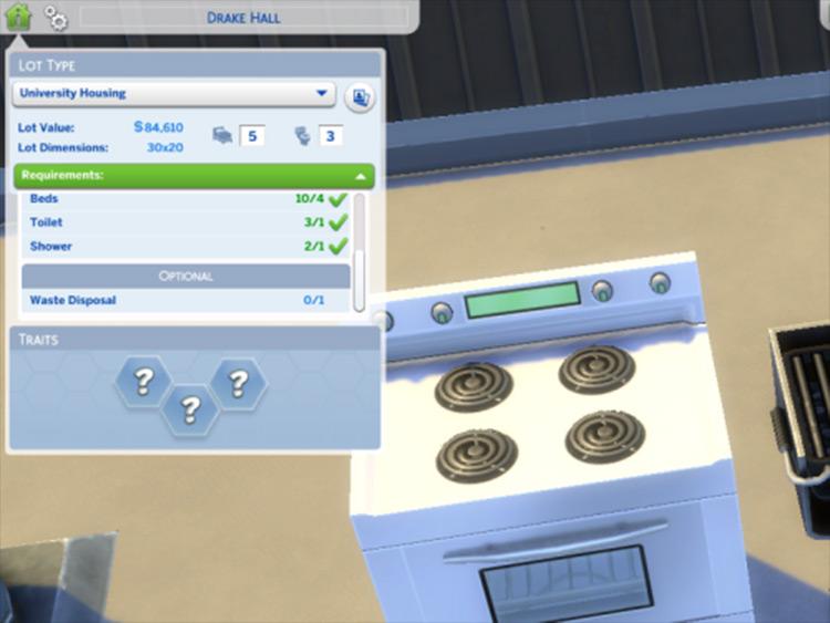 No University Housing Restrictions by Zerbu Sims 4 screenshot