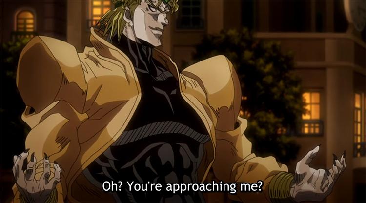 Jotaro vs Dio JoJo's Bizarre Adventure anime screenshot