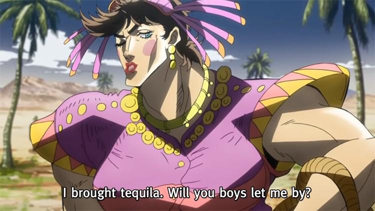 Joseph being the spiciest senorita JoJo's Bizarre Adventure anime