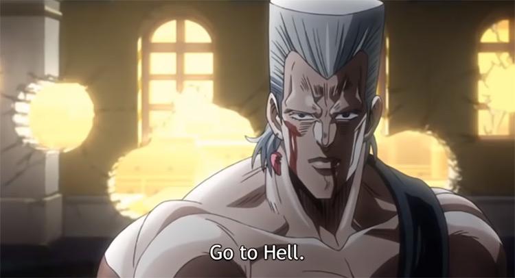 Polnareff vs Vanilla Ice JoJo's Bizarre Adventure anime screenshot