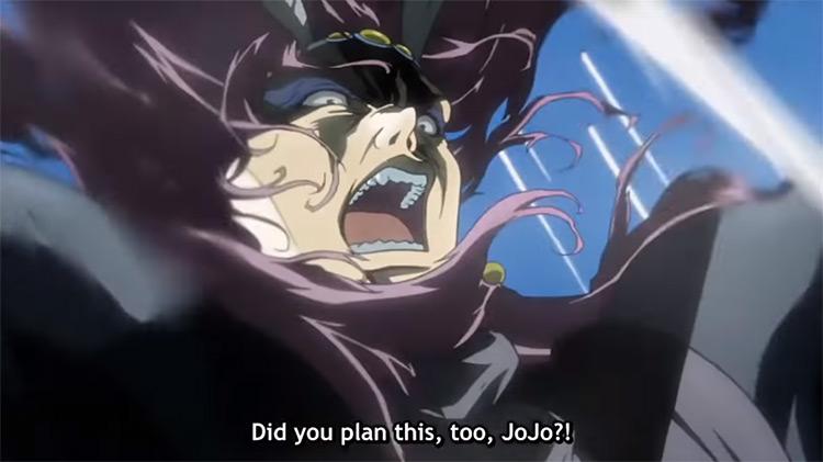 Joseph Defeats Kars JoJo's Bizarre Adventure anime screenshot