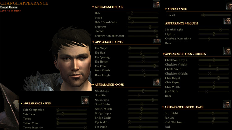 Chargen Revamp Dragon Age II Mod