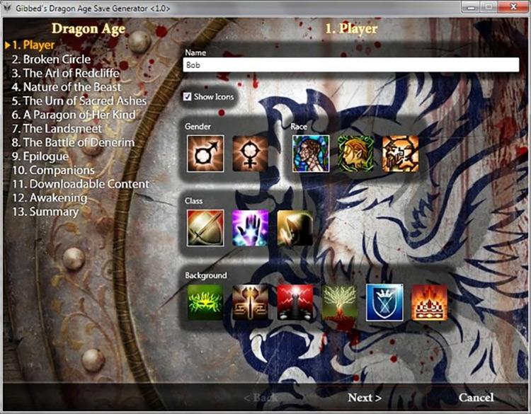 Save Generator Dragon Age II Mod