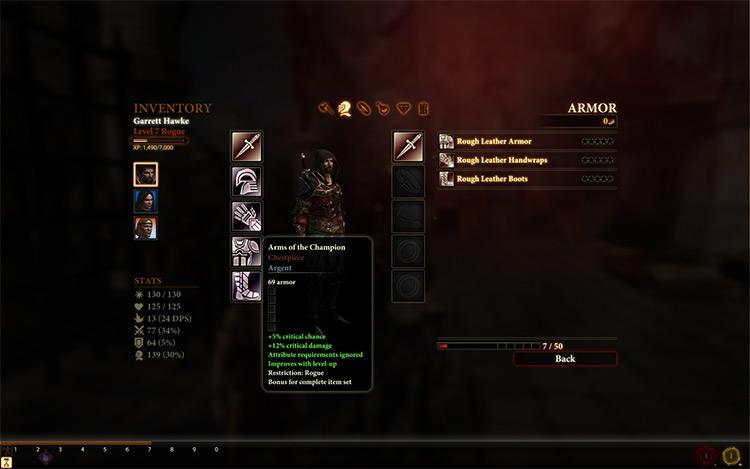 Champion's Armor Dragon Age II Mod