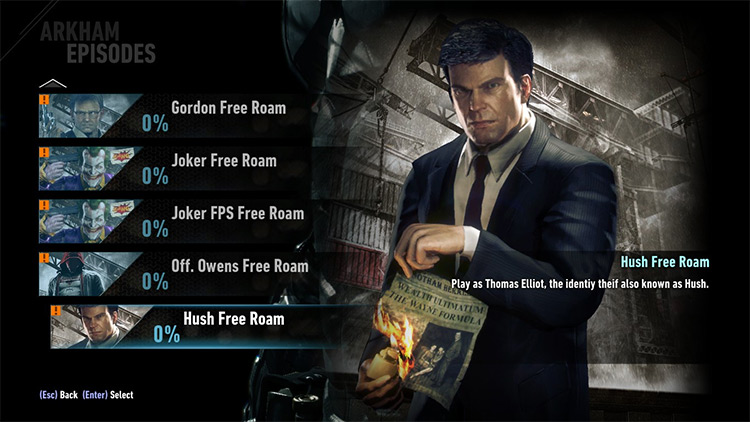 Built-in Free Roam Mod for Batman Arkham Knight