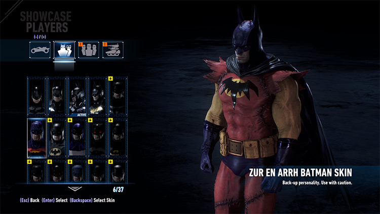 All WBPlay Skins Batman Arkham Knight Mod