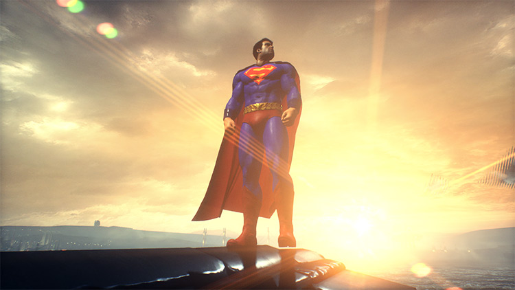 Superman Skin Batman Arkham Knight Mod