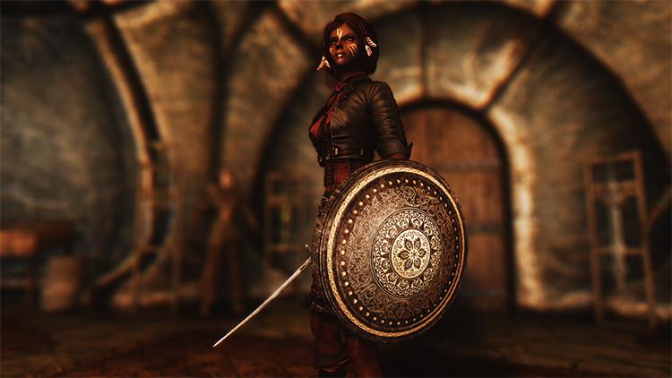 Farinelli's Hammerfell Armory Skyrim mod