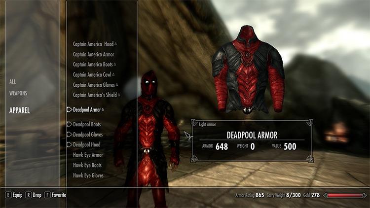 Deadpool Skyrim mod