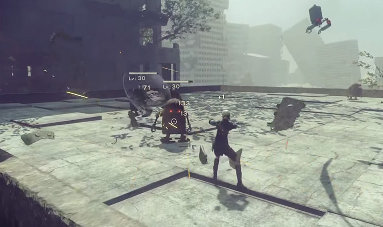 Melee Defense in Nier Automata