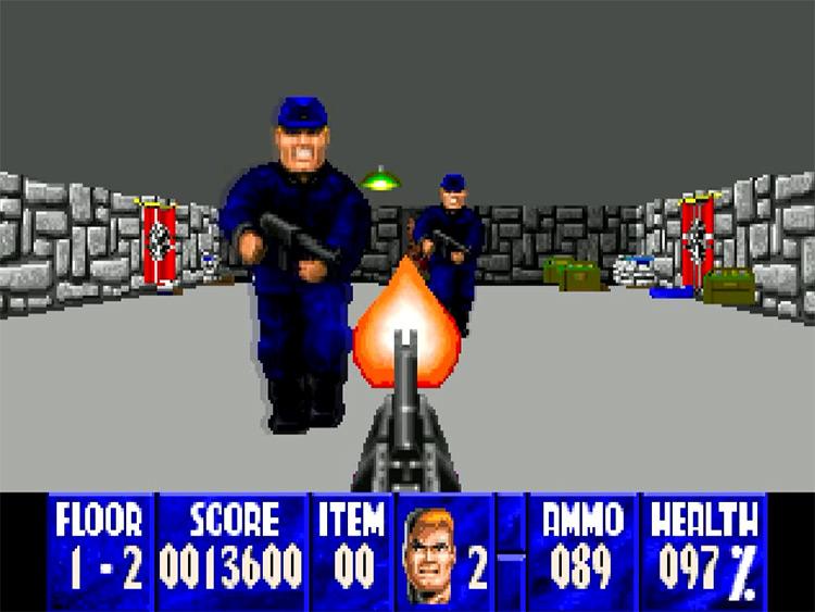 Wolfenstein 3D game screenshot