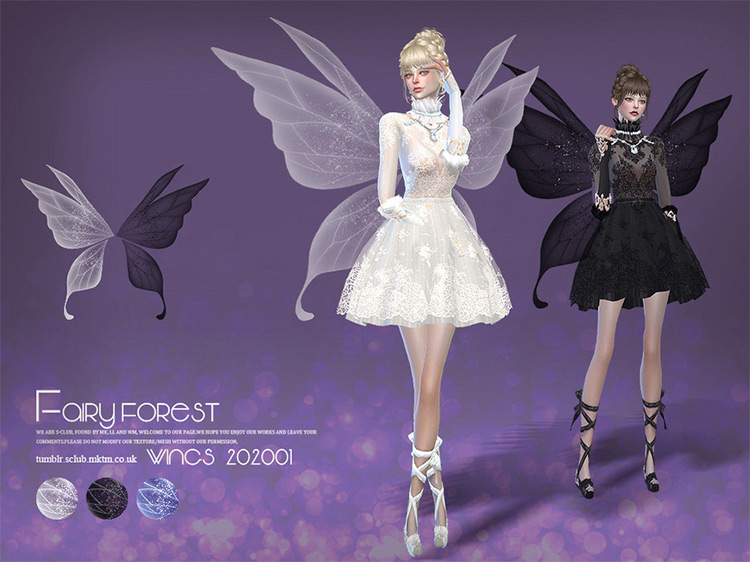 Fairy Forest Wings Sims 4 CC