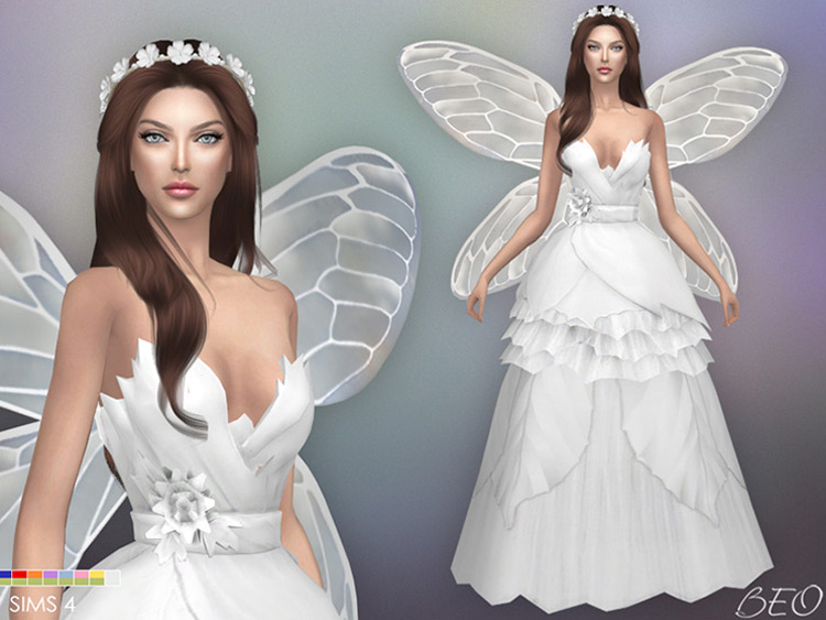 Fairy Wedding Dress Sims 4 CC