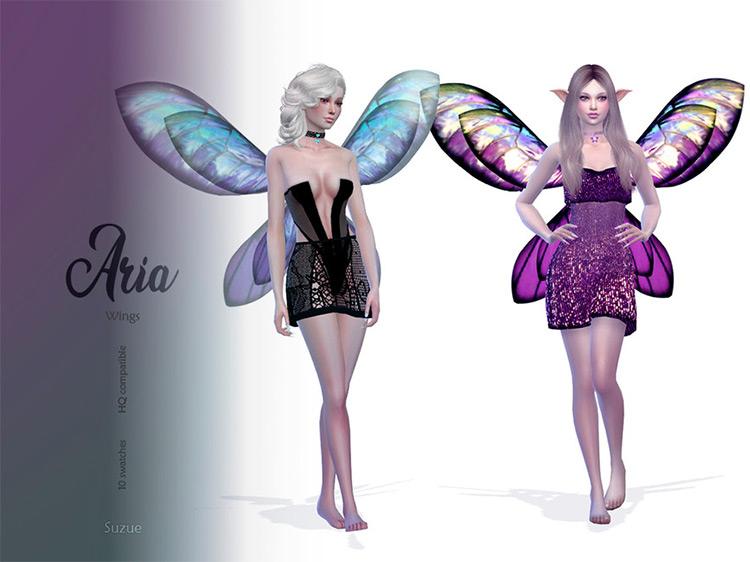 Aria Wings Sims 4 CC screenshot