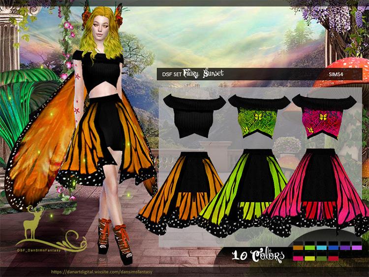 Fairy Sunset Set Sims 4 CC