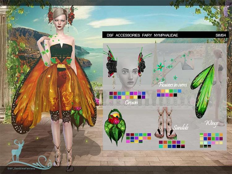 Nymphalidae Fairy Accessories TS4 CC