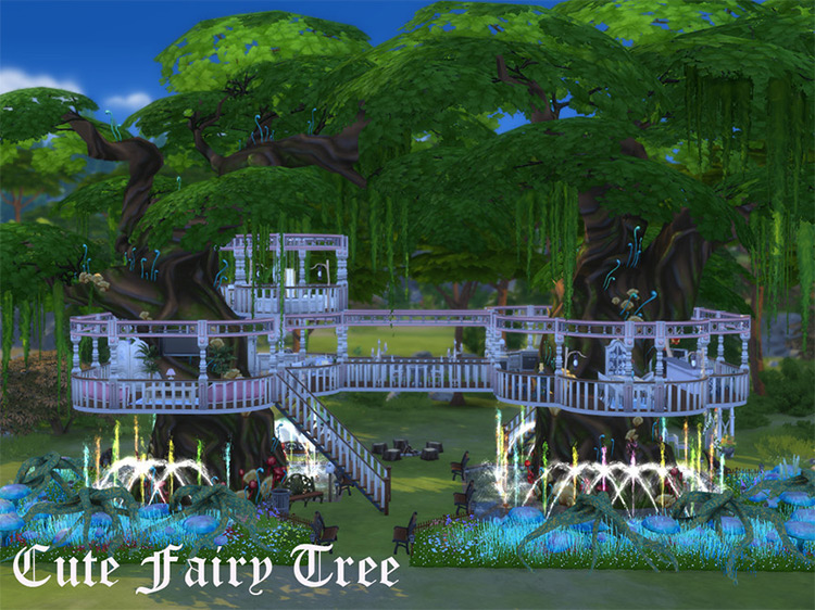 Cute Fairy Tree for Sims 4