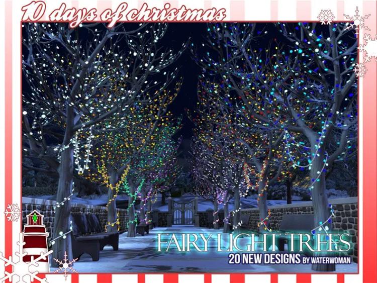 Fairy Light Trees Sims 4 CC