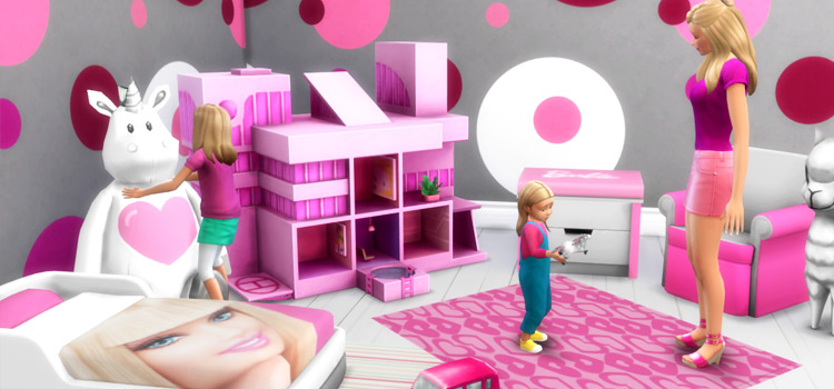 Barbie Kids Room CC for TS4