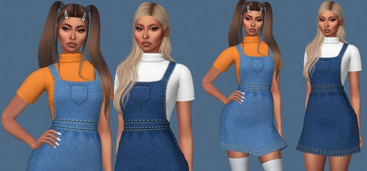 Sims 4 ellie CC - Girls Overalls fashion