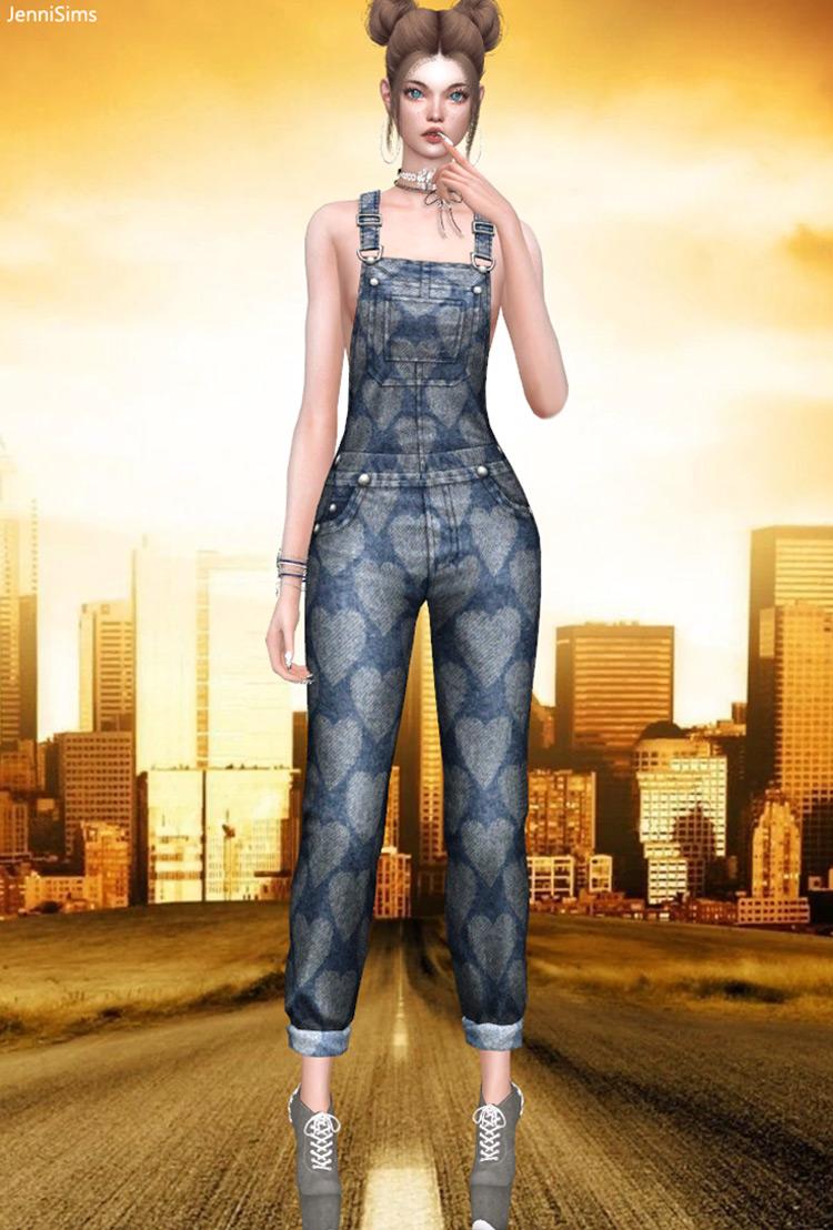 JenniSims Overalls Sims 4 CC