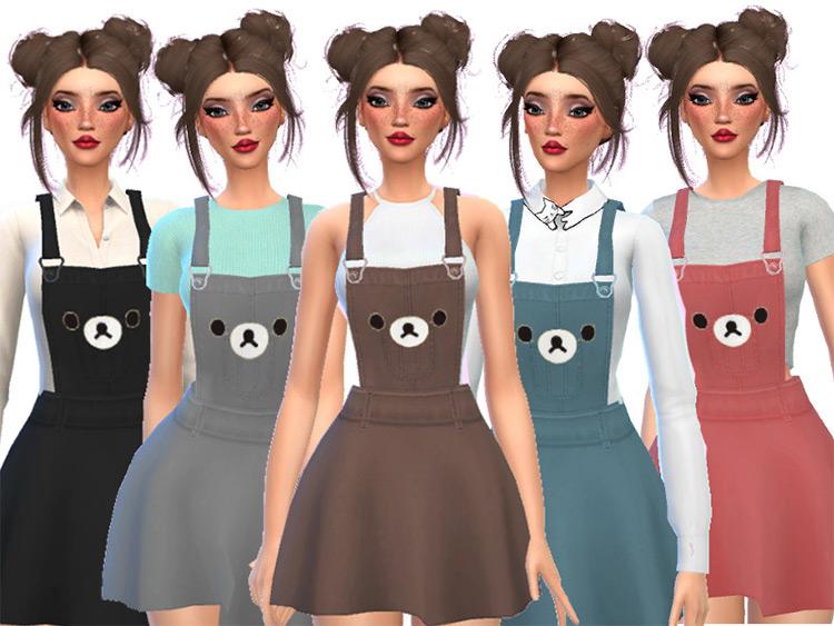 Kawaii Bear Overalls Sims 4 CC