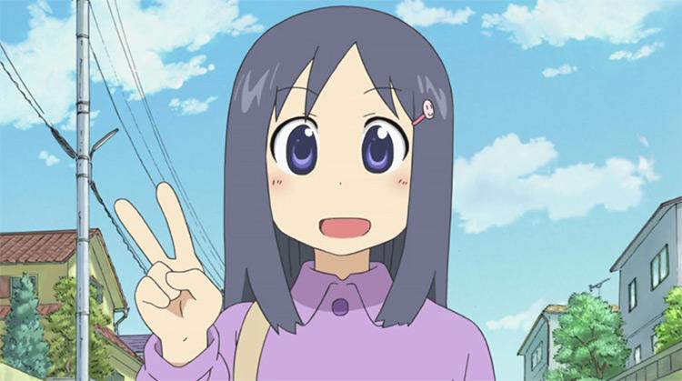 Yoshino Naganohara in Nichijou anime