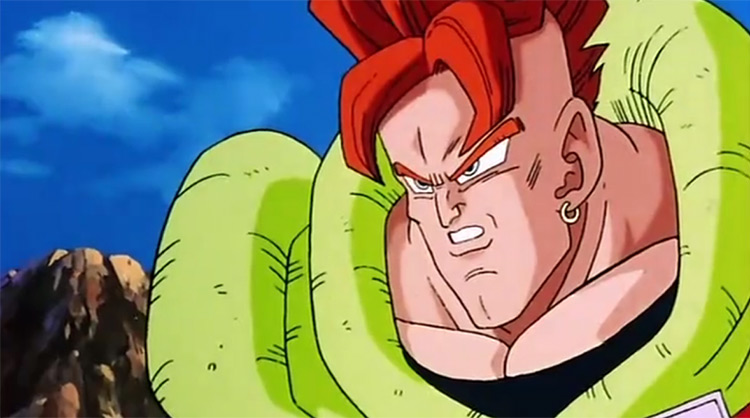 Android 16 from DBZ anime