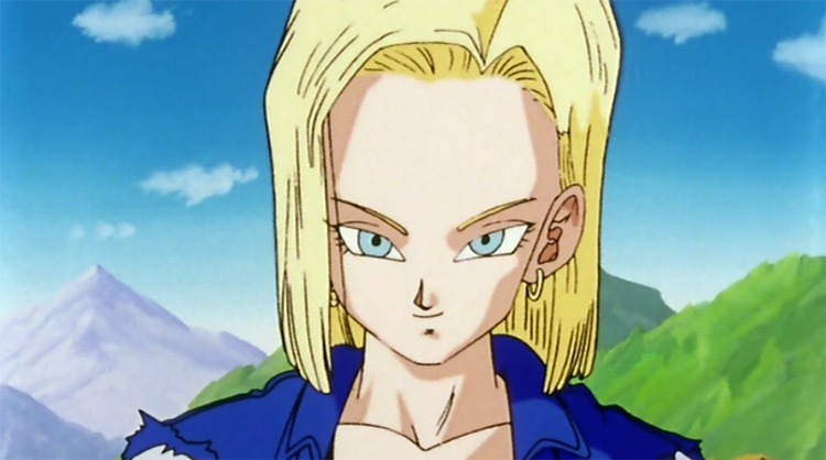 Android 18 from Dragon Ball Z anime