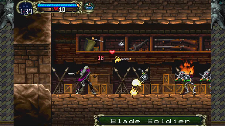 Castlevania: Symphony of the Night gameplay PS4