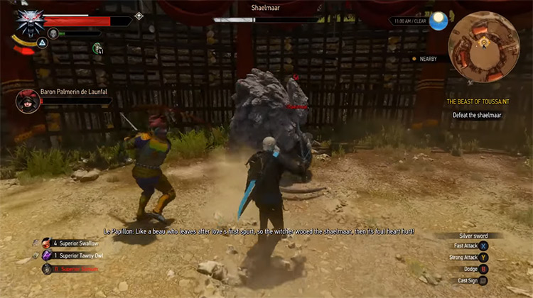 The Witcher 3: Wild Hunt (Blood and Wine DLC) gameplay screenshot