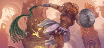 Dragonborn Paladin character painting