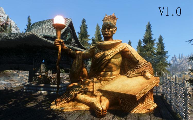 Custom Statues update mod for Skyrim