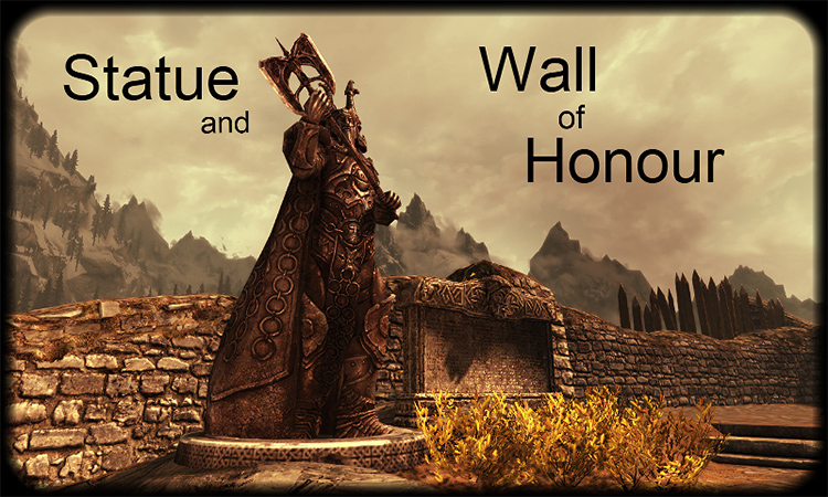 Wall of Honor and Ysgramor Statue Preview